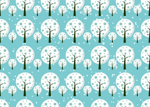 white trees background repeating pattern design