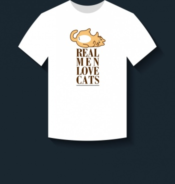 white tshirt design cute cat slogan decoration
