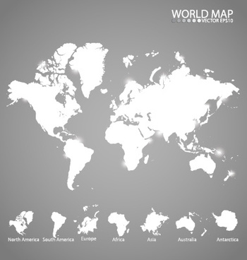 white world map creative vector