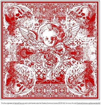 wicked cherub bandana vector