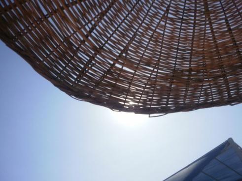 wicker parasol