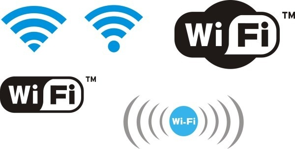 Wifi design elements logos vector graphics