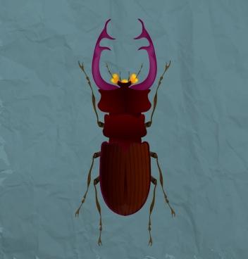 wild flea icon closeup design 3d colored ornament
