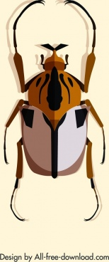 wild insect icon closeup 3d design