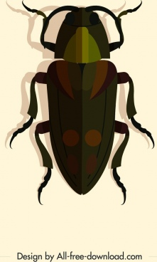 wild insect icon dark 3d design