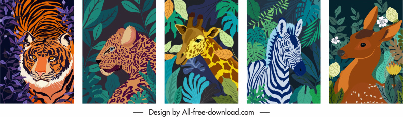 wild nature background mammal species sketch
