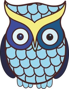 wild owl vector illustration with cartoon style