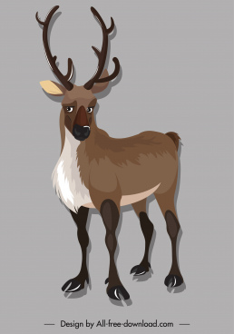 wild reindeer icon cartoon character sketch