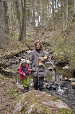 wilderness water courses mother with child
