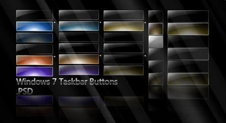 win7 style black cool button templates