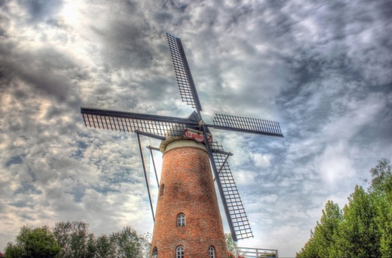 windmill and sky in nanjing china