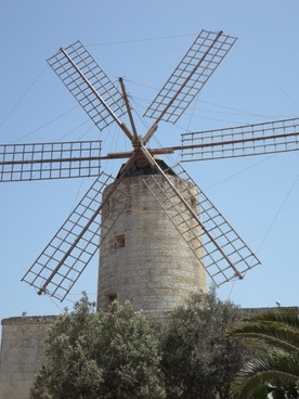 windmill mill wind