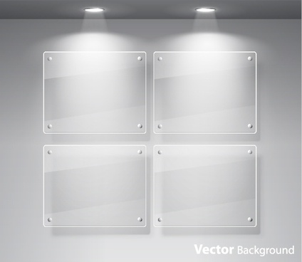 window glass exhibition spotlights vector