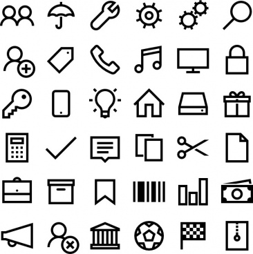 windows 10 line icons
