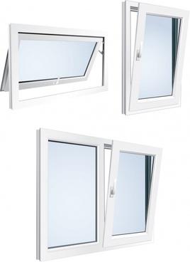 windows home decoration vector