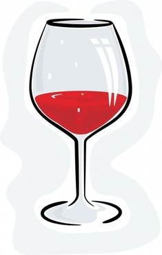 wine glass drawing bright classical sketch