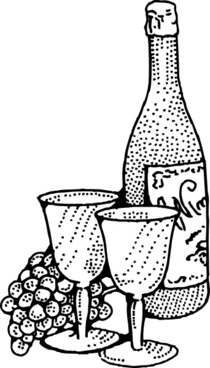 Wine And Goblets clip art