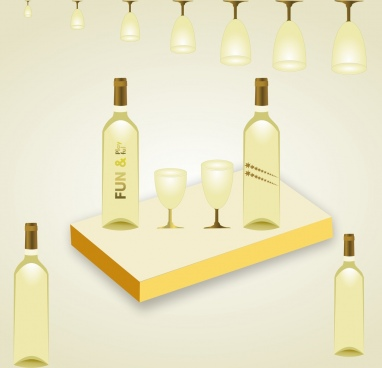 wine bottle poster