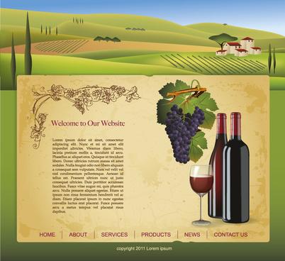 wine design elements vector