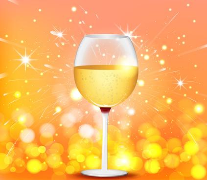 wine glass firework background