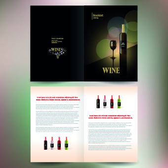 wine poster cover vector