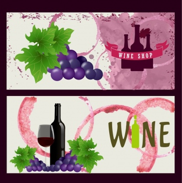 wine shop advertising background grunge style grapes decoration