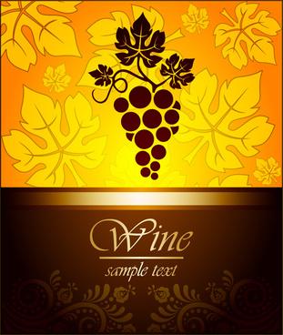 wine vintage background vector set