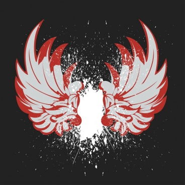 wings background grunge dark design