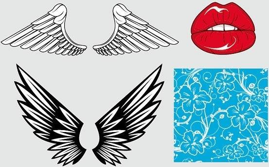 wings of the mouth pattern vector