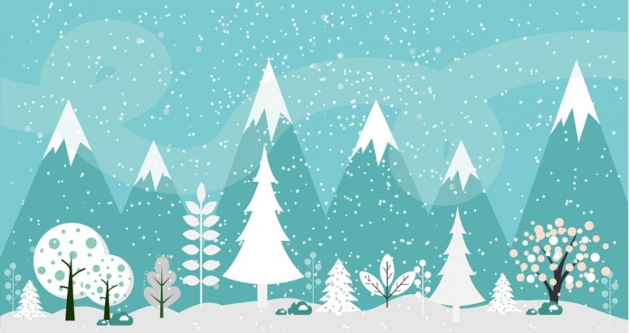 winter background fir trees and outdoor scenery design
