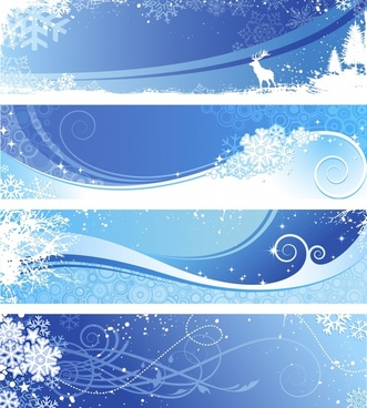 winter background templates blue white design snowflakes ornament