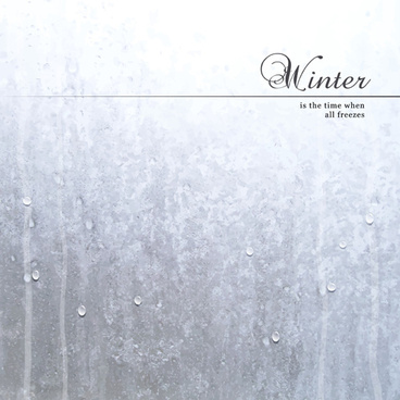 winter background with water drop vector
