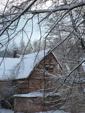 winter building snow