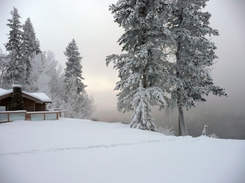 winter canim lake british columbia