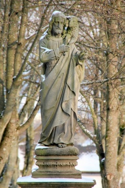 winter cemetery sculpture