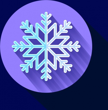 winter christmas background closeup snowflake symbol decoration