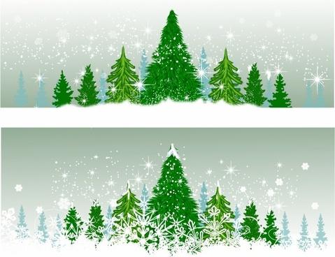 Christmas tree swirl free vector