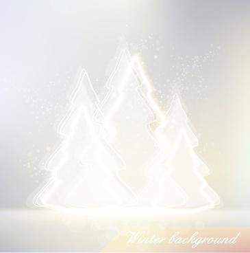 winter design elements vector background