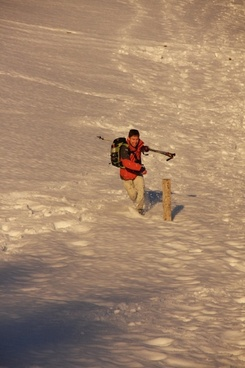 winter hike wanderer hike