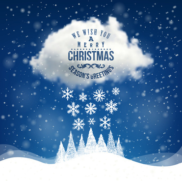 winter holiday cards vector set