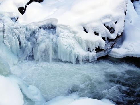 winter ice creek