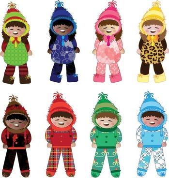 winter kids