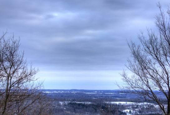 winter landscape from the hill at holy hill wisconsin