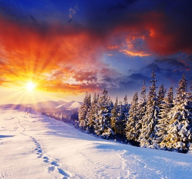 winter landscape highdefinition picture