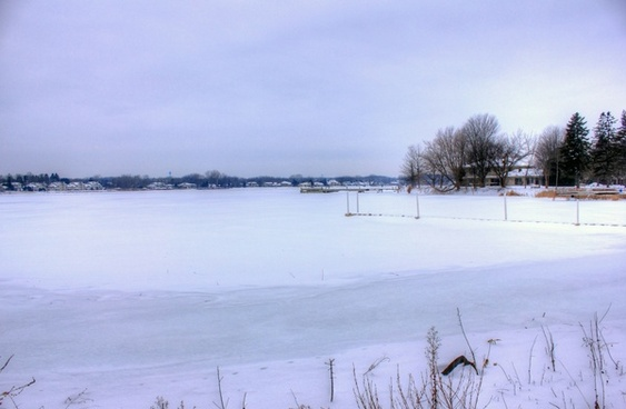winter landscape in sturgeon bay wisconsin