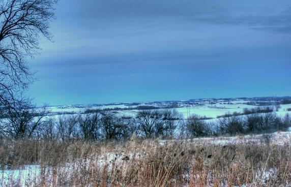 winter landscape overlook in madison wisconsin