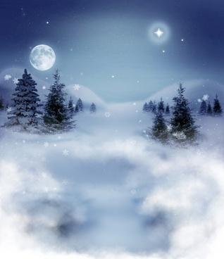 winter landscape sky