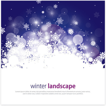 winter landscape vector graphic