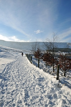 winter magic near dovestones reservoir united kingdom