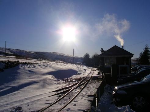 winter on the railway
